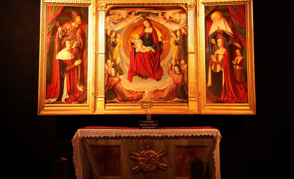 Tryptique Cathedrale de Moulins - Anne de France