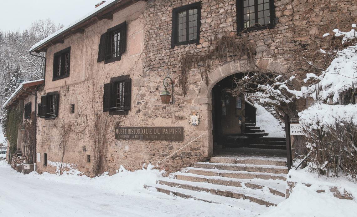 Le Moulin Richard de Bas sous la neige