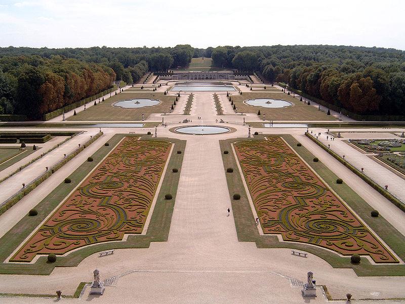 Exemple de Jardin à la Française, ici le jardin de Vaux-le-Vicomte
