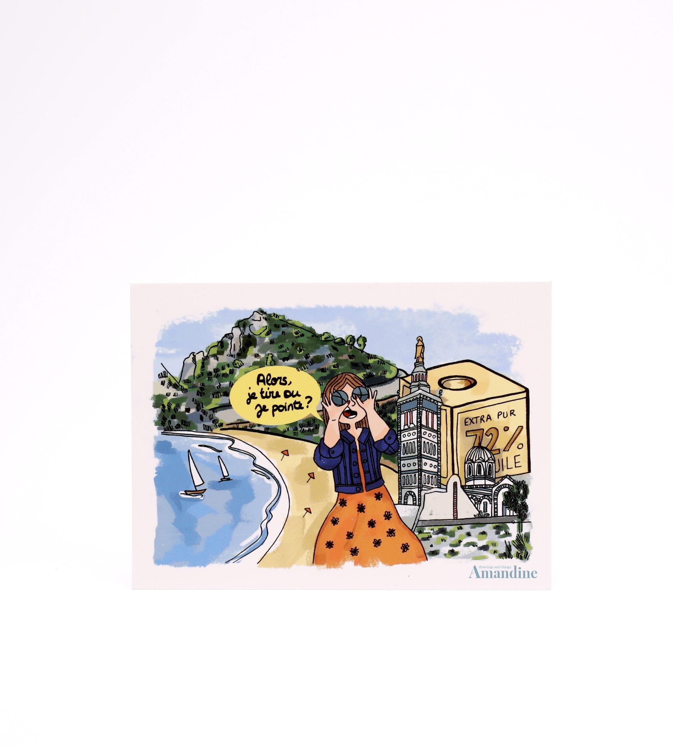Carte Postale inclue dans la box Côte d'Azur